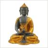 Erleuchteter Buddha Ashtamangala 2,8kg Messing graugold Vorderansicht