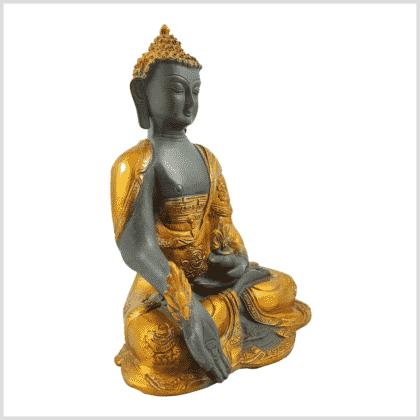 Medizinbuddha 2,8kg graugold Seitenansicht rechts
