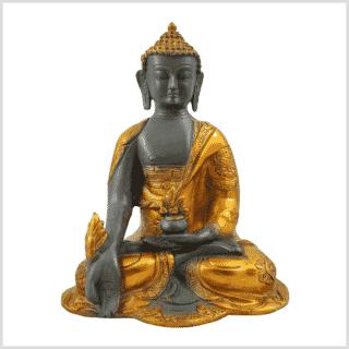 Medizinbuddha 2,8kg graugold Vorderansicht