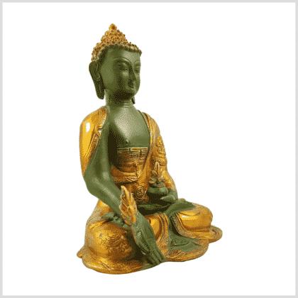 Medizinbuddha Ashtamangala 2,8kg mintgrün Seitenansicht rechts