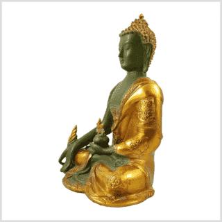 Medizinbuddha Ashtamangala 2,8kg mintgrün Seitenansicht links