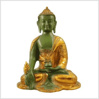 Medizinbuddha Ashtamangala 2,8kg mintgrün Vorderansicht