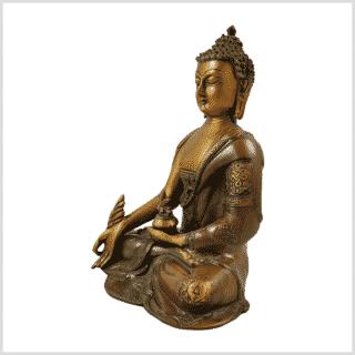 Medizinbuddha Ashtamangala 2,8kg braungrün Seitenansicht links