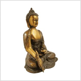 Medizinbuddha Ashtamangala 2,8kg braungrün Seitenansicht rechts