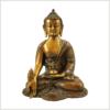 Medizinbuddha Ashtamangala 2,8kg braungrün Vorderansicht