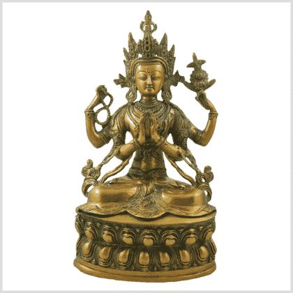 Avalokiteshvara 3,9kg Messing goldgrün Vorne