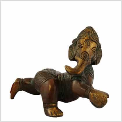 Baby Ganesha 12cm braungrün Hauptansicht