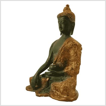 Erdender Buddha 1,7kg nepalgrün Seitenansicht links