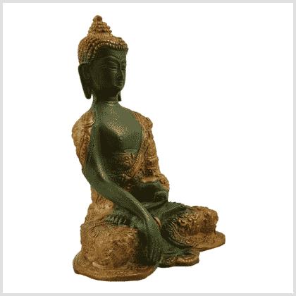 Erdender Buddha 1,7kg nepalgrün Seitenansicht rechts