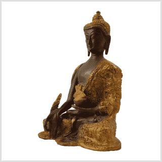 Medizinbuddha 1,7kg Coffeebraun Seitenansicht links