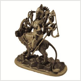 Durga 2,9kg Messing Kupfer Seite links