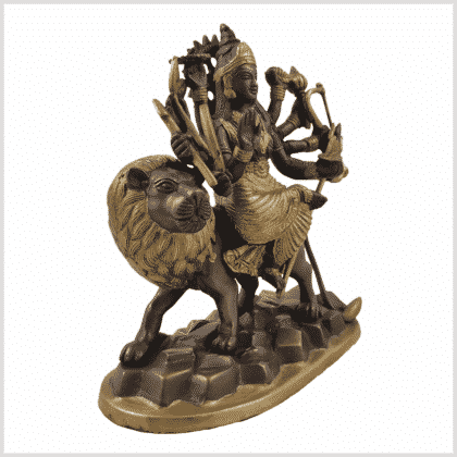 Durga 2,9kg Messing Kupfer Seite rechts