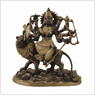Durga 2,9kg Messing Kupfer Vorderansicht