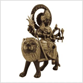 Durga 4,6kg Messing verkupfert Seitenansicht