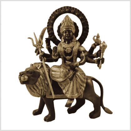 Durga 4,6kg Messing verkupfert Vorderansicht