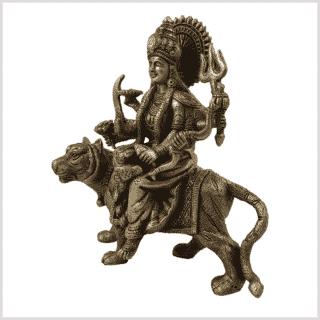 Durga auf Tiger Messing Seite links