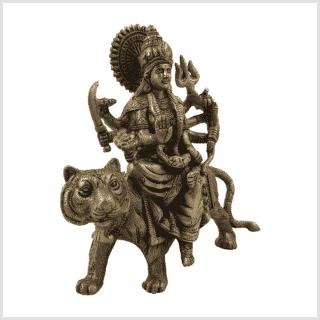 Durga auf Tiger Messing Seite rechts