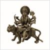 Durga auf Tiger Messing Vorderansicht
