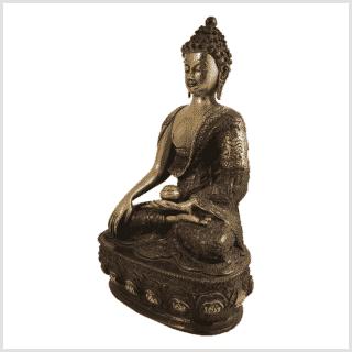 Erdender Buddha 33cm Lifebuddha rotgrün Seite links