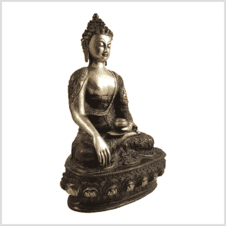 Erdender Buddha 33cm Lifebuddha rotgrün Seite rechts
