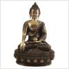 Erdender Buddha 33cm Lifebuddha rotgrün Vorderansicht