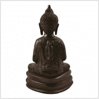 Erleuchtungsbuddha 23,5cm rotgrün Rücken