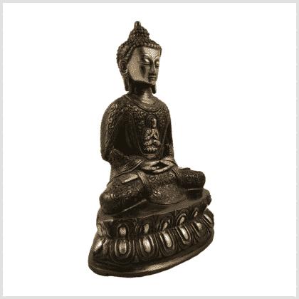 Erleuchtungsbuddha 23,5cm rotgrün Seitenansicht rechts