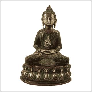 Erleuchtungsbuddha 23,5cm rotgrün Vorderansicht