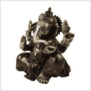 Ganesha Messing rotgold 12kg Seitenansicht links