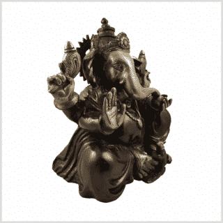 Ganesha Messing rotgold 12kg Seitenansicht rechts