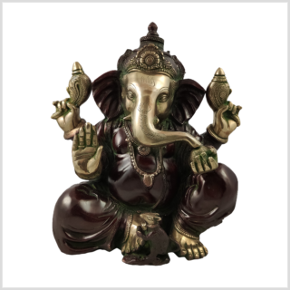 Ganesha Messing rotgold 12kg Vorderansicht