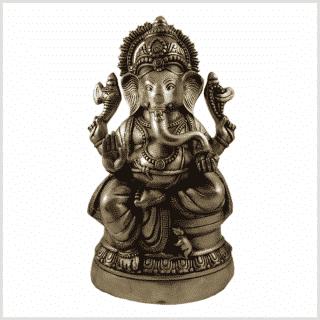 Ganesha 14kg 52cm Messing Vorderansicht