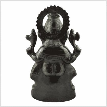 Ganesha 52cm 14kg Messing grüngold Rücken