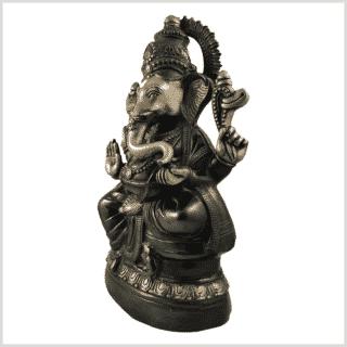 Ganesha 52cm 14kg Messing grüngold Seitenansicht links