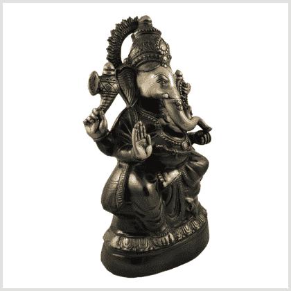 Ganesha 52cm 14kg Messing grüngold Seitenansicht rechts