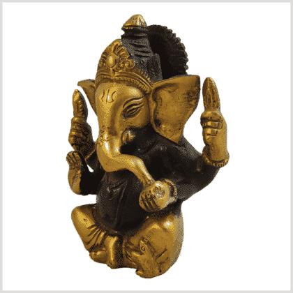Ganesha 760g Messing braungold Seite links