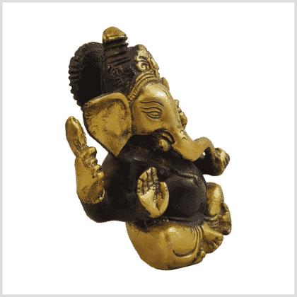 Ganesha 760g Messing braungold Seite rechts