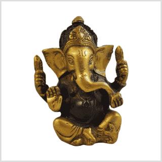Ganesha 760g Messing braungold Vorderansicht