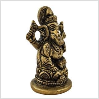 Ganesha 8cm Messing Seitenansicht rechts