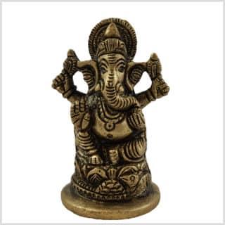 Ganesha 8cm Messing Vorderansicht