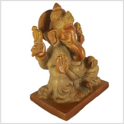 Elefantengott Ganesha Sandbeige Seitenansicht rechts