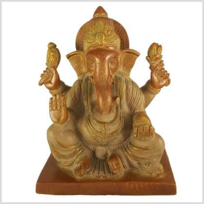 Elefantengott Ganesha Sandbeige Vorderansicht