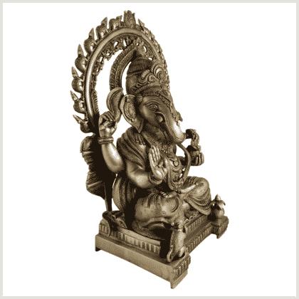 Ganesha 18kg Messing Seitenansicht rechts