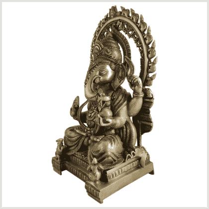 Ganesha 18kg Messing Seitenansicht links