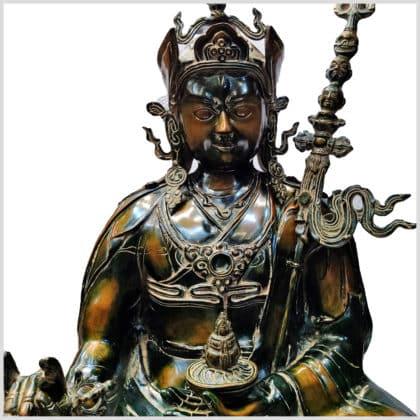 Guru Lama Rin-Poche Messing 83cm Nahansicht