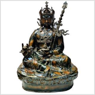 Guru Lama Rin-Poche Messing 83cm Vorderansicht