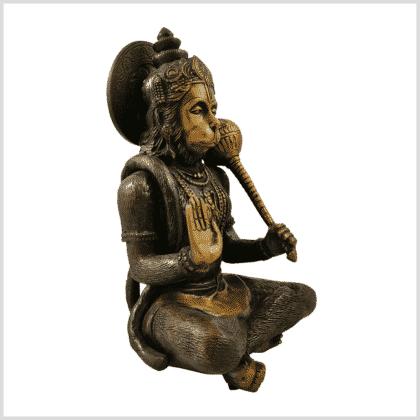 Hanuman 29cm 5kg Messing braungrün Seitenansicht rechts