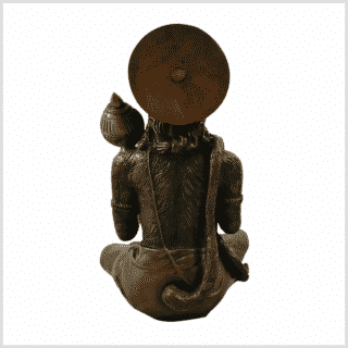 Hanuman 29cm 5kg Messing braungrün Rücken