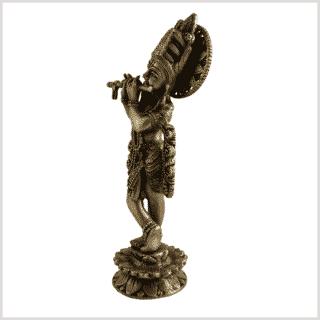 Krishna 30cm 2,2kg Messing Seite links