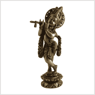 Krishna 30cm 2,2kg Messing Vorne